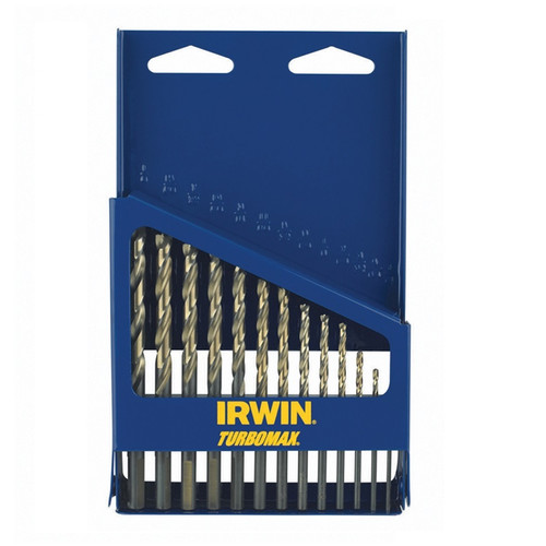 Irwin Hanson 73136 13-Piece High Speed Steel Drill Bit Set with Turbo Point Tip and Metal Index Case image number 0