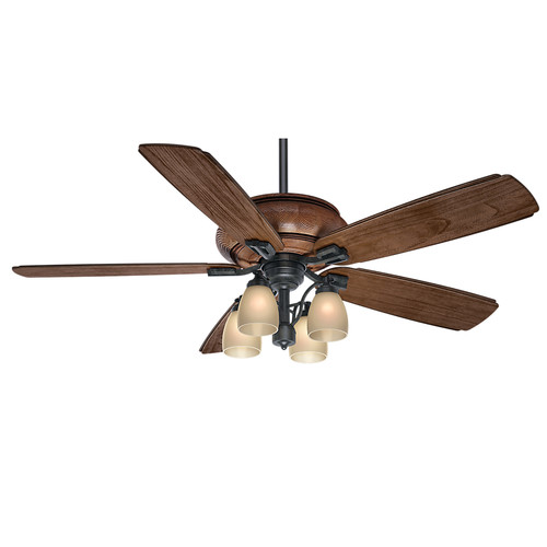 Casablanca 55051 60 in. Heathridge Aged Steel Ceiling Fan with Light and Remote image number 0