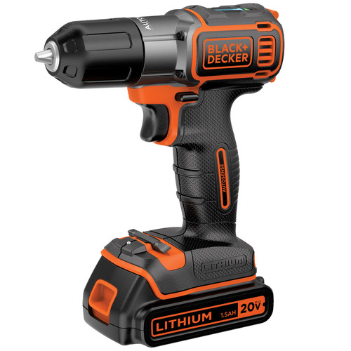 Factory Reconditioned Black & Decker BDCDE120C 20V MAX Cordless Lithium-Ion 3/8 in. Drill Driver with Autosense Technology