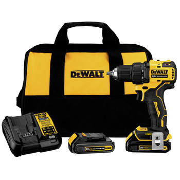 Factory Reconditioned Dewalt DCD708C2R ATOMIC 20V MAX Brushless Lithium-Ion Compact 1/2 in. Cordless Drill Driver Kit (1.5 Ah)