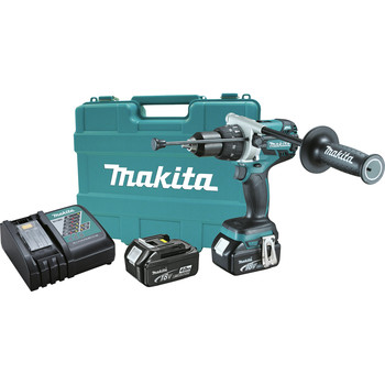 Factory Reconditioned Makita XPH07M-R 18V LXT Lithium-Ion Brushless 1/2 in. Cordless Hammer Drill Driver Kit (4 Ah) image number 0