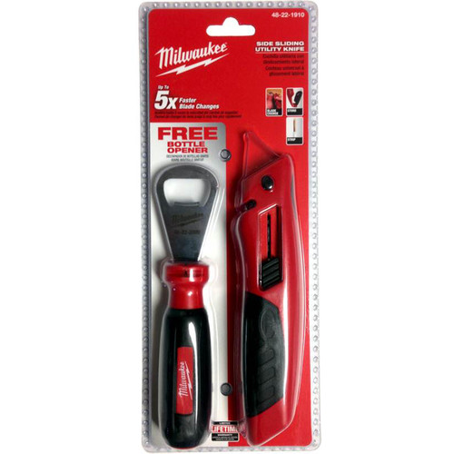 Milwaukee 48-22-1910P Slide Utility Knife with Bottle Opener
