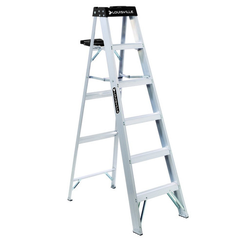 Louisville AS3006 6 ft. Type IA Duty Rating 300 lbs. Load Capacity Aluminum Step Ladder image number 0