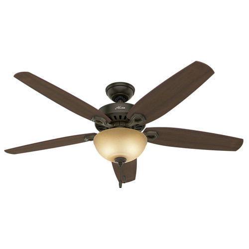 Hunter 53363 56 in. Builder Great Room New Bronze Ceiling Fan with Light