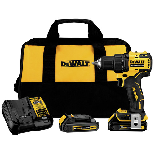 Dewalt DCD708C2 ATOMIC 20V MAX Brushless Compact 1/2 in. Cordless Drill Driver Kit (1.5 Ah) image number 0