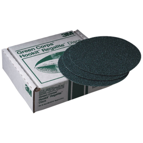 3M 524 Green Corps Hookit Regalite Disc 8 in. 80E (25-Pack)