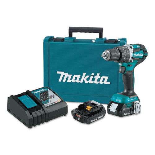 Makita XPH12R 18V LXT Lithium-Ion Compact Brushless 1/2 in. Cordless Hammer Drill (2 Ah) image number 0