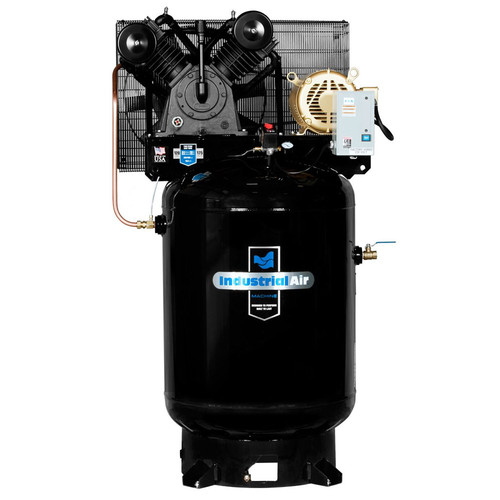 Industrial Air IV9919910 10 HP 230V 120 Gallon Baldor Powered Vertical Commercial Air Compressor image number 0