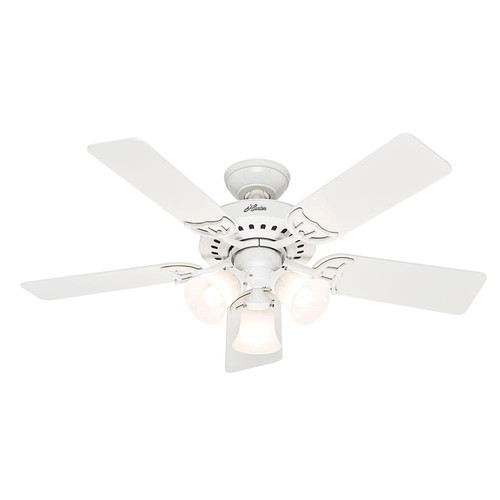 Factory Reconditioned Hunter CC52000 46 in. Classic White Indoor Ceiling Fan