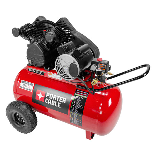 Porter-Cable PXCMPC1682066 1.6 HP Single Stage 20 Gallon Oil-Lube Horizontal Air Compressor