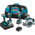 Makita XT449T 18V LXT Cordless 5.0 Ah Lithium-Ion Brushless 4-Piece Combo Kit