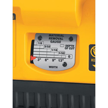 Dewalt DW735X 13 in.  Two-Speed Thickness Planer with Support Tables and Extra Knives image number 5