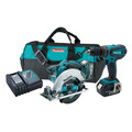 Factory Reconditioned Makita XT250-R LXT 18V Cordless Lithium-Ion 1/2 in. Hammer Drill & Circular Saw Kit