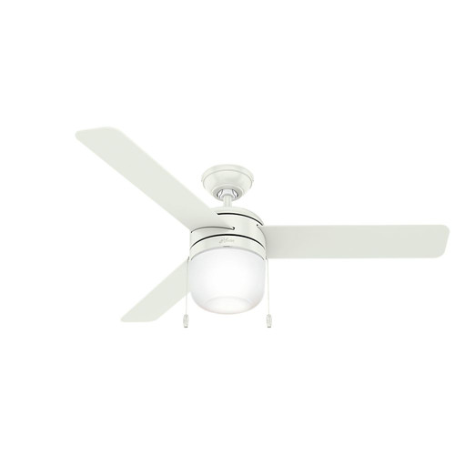 Hunter 59403 52 in. Acumen Fresh White Ceiling Fan with Light image number 0