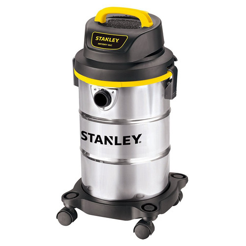 Stanley SL18130 4.0 Peak HP 5 Gallon Portable S.S. Wet Dry Vac with Casters