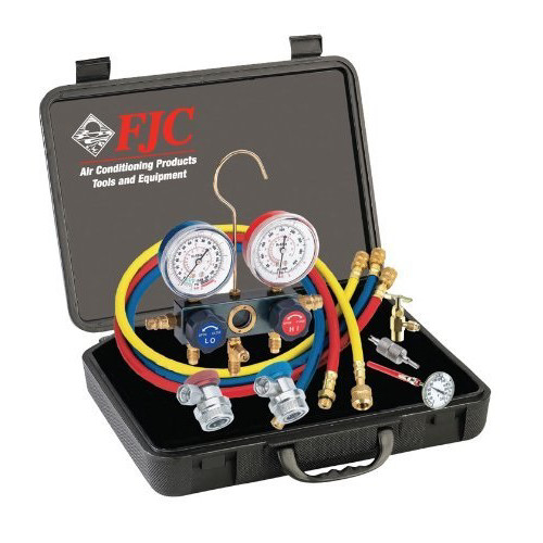 FJC 6785 R134a Aluminum Manifold Gauge Set & Tool Assortment