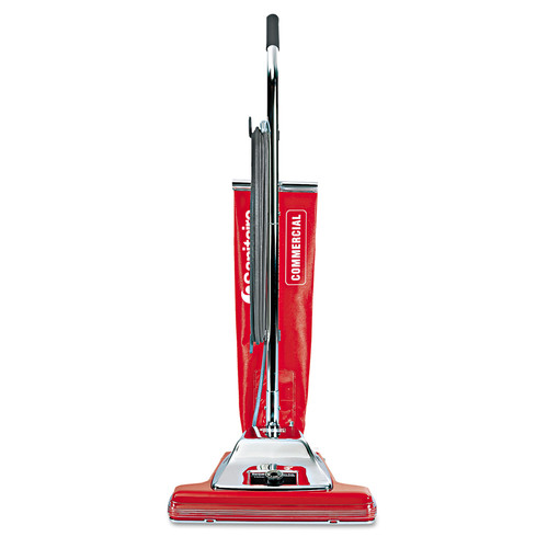 Sanitaire SC899H Widetrack Commercial Upright Vacuum W/vibra Groomer, 16-in Path, 18.5lb, Red image number 0
