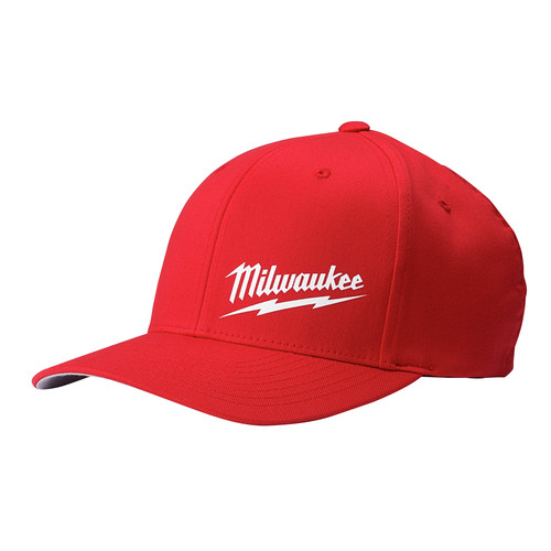 Milwaukee 504R-LXL FLEXFIT Fitted Hat - Red, Large/X-Large image number 0
