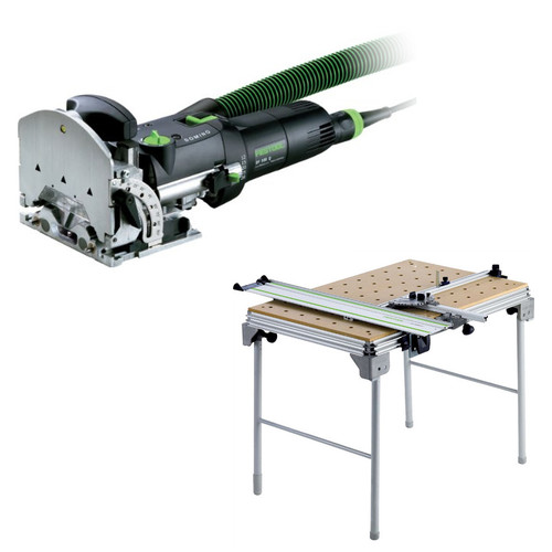 Festool DF 500 Q Domino Domino Mortise and Tenon Joiner Set plus Multi-Function Work Table