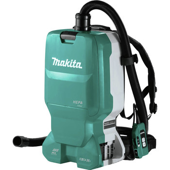 Makita XCV18ZX 18V X2 LXT Lithium-Ion (36V) Brushless AWS Capable 1.6 Gallon HEPA Filter Backpack Cordless Dry Dust Extractor (Tool Only)