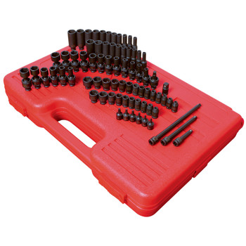 Sunex 1874 1/4 in. Drive 74 Piece SAE/Metric Master Impact Socket Set