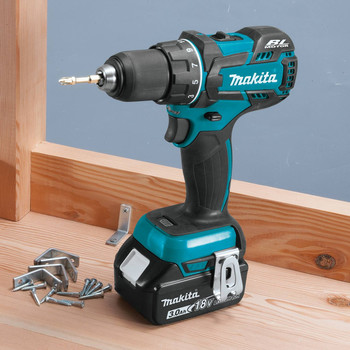 Makita XFD061 18V LXT Lithium-Ion Brushless Compact 1/2 in. Cordless Drill Driver Kit (3 Ah) image number 4