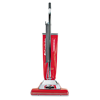 Sanitaire SC899H Widetrack Commercial Upright Vacuum W/vibra Groomer, 16-in Path, 18.5lb, Red