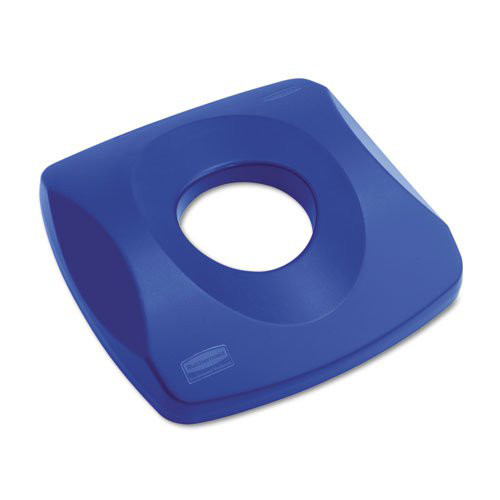 Rubbermaid 269100BE 16 in. x 16 in. x Untouchable Recycling Top (Blue)