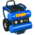 Emglo EM810-4M 1.1 HP 4 Gallon Oil-Lube Dolly-Style Twin Stack Air Compressor