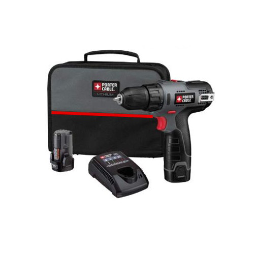 Factory Reconditioned Porter-Cable PCL120DDC-2R Tradesman 12V Max Cordless Compact Lithium 3/8 in. Drill