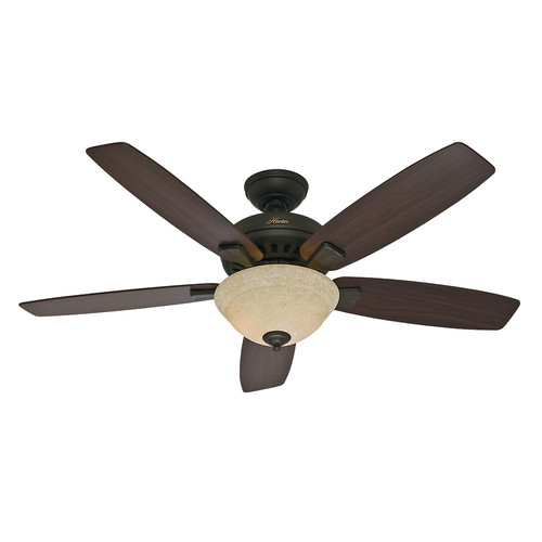 Hunter 53176 52 in. Banyan New Bronze Ceiling Fan with Light