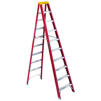 Louisville L-3016-10 10 ft. Type IA Duty Rating 300 lbs. Load Capacity Fiberglass Step Ladder