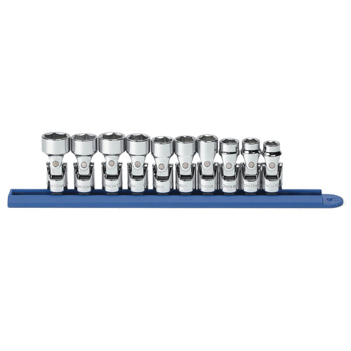 GearWrench 80565 10-Piece 3/8 in. Drive 6-Point Metric Flex Socket Set image number 0
