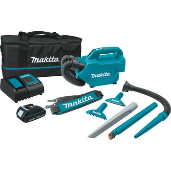 Makita XLC07SY1 18V LXT Compact Lithium-Ion Cordless Handheld Canister Vacuum Kit (1.5 Ah)