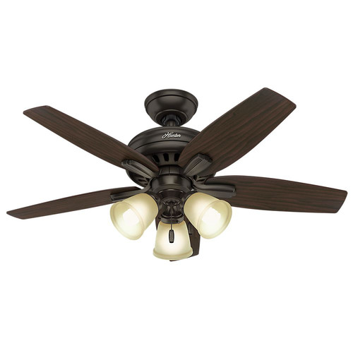 Hunter 51084 42 in. Newsome Premier Bronze Ceiling Fan with Light