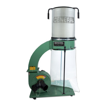 General International 10-105CFM1 1-1/2 HP 14 Amp Dust Collector