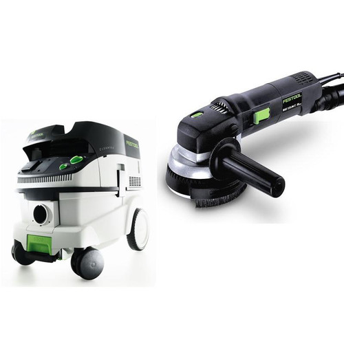 Festool RAS 115.04 E 4-1/2 in. Rotary Sander with CT 26 E 6.9 Gallon HEPA Mobile Dust Extractor