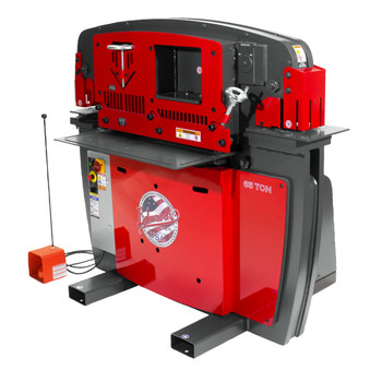 Edwards IW65-3P208-AC600 208V 3-Phase 65 Ton JAWS Ironworker with Hydraulic Accessory Pack