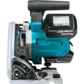 Factory Reconditioned Makita XPS01PTJ-R 18V X2 5.0 Ah Cordless Lithium-Ion Brushless 6-1/2 in. Plunge Circular Saw Kit image number 3