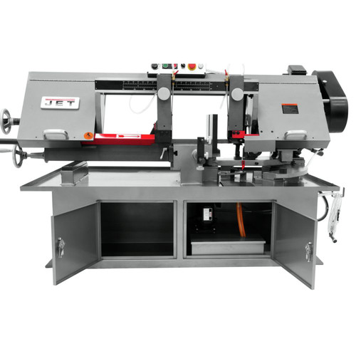 JET 413410 230V 10 in. x 18 in. Horizontal Dual Mitering Bandsaw image number 1
