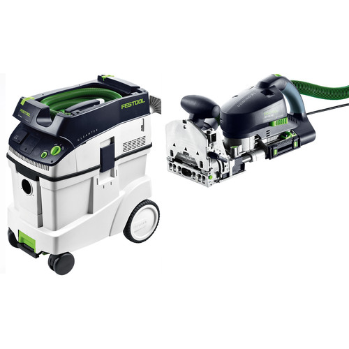 Festool DF 700 Domino XL Joiner with CT 48 E 12.7 Gallon HEPA Mobile Dust Extractor
