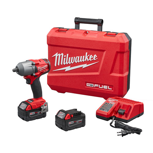 Milwaukee 2861-22 M18 FUEL 1/2 in. Mid-Torque Impact Wrench Kit with Friction Ring image number 0