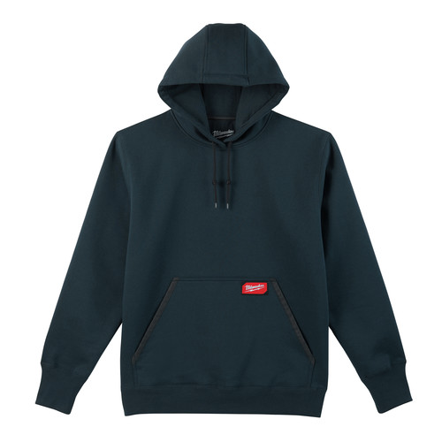 Milwaukee 350BL-2X Heavy Duty Pullover Hoodie - Navy Blue, 2X image number 0