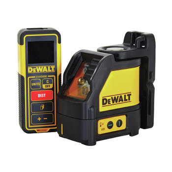 Dewalt DW0889CG Green Beam Cross Line Laser and 99 ft. Laser Distance Measurer Kit