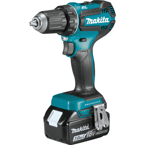 Makita XFD131 18V LXT Lithium-Ion Brushless Compact 1/2 in. Cordless Drill Driver Kit (3 Ah) image number 2