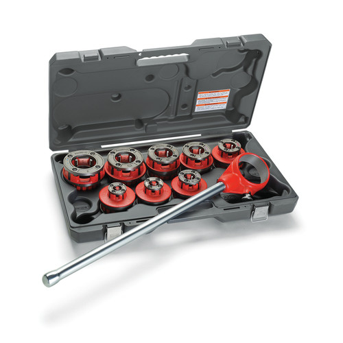 Ridgid 12-R 1/2 in. - 2 in. Capacity NPT Exposed Ratchet Threader Set for Plastic Coated Pipe