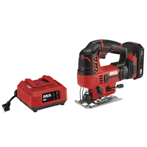 Skil JS820302 PWRCore 20 20V 7/8 in. Jigsaw with (1) 2 Ah Lithium-Ion Battery and Charger image number 0