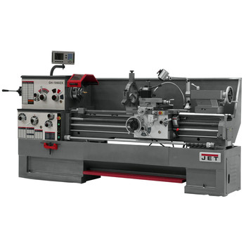 JET GH-1660ZX Lathe with NEWALL DP700 DRO and Collet Closer