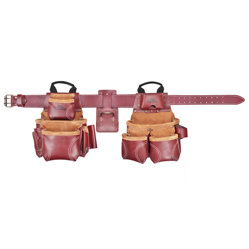 CLC 21453X 18 Pocket - Top of the Line Pro Framer's Heavy Duty Leather Combo Tool Belt System- XL image number 0