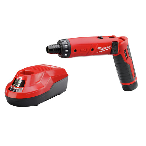 Milwaukee 2101-21 4V Cordless M4 Lithium-Ion 1/4 in. Hex Screwdriver with 2.0 Ah RedLithium Battery